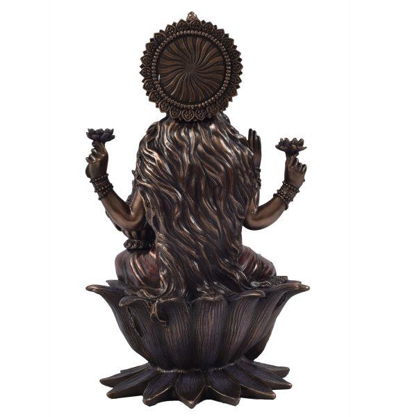 Metal Laxmi Sitting On Lotus