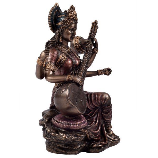 Metal Saraswathi Idol Sitting