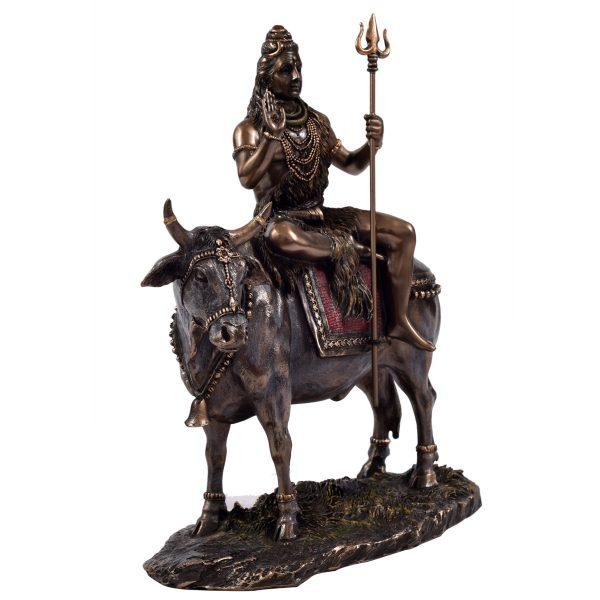 Metal Shiva Sitting On Nandi