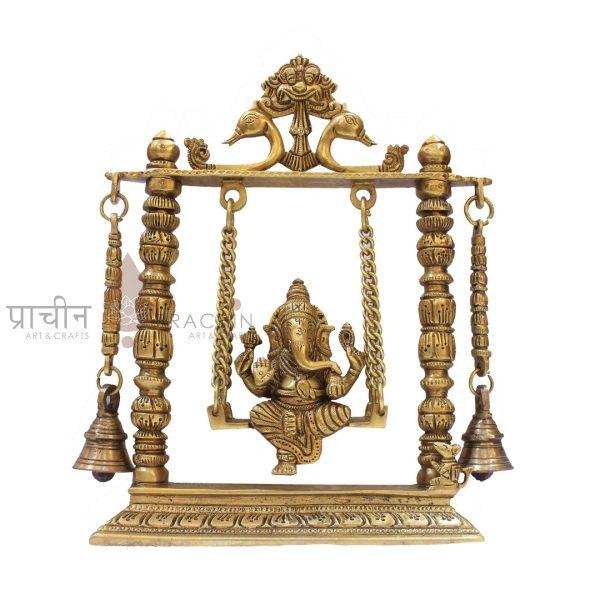 Brass Ganesha on Swing