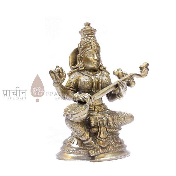Bronze Saraswathi Sitting