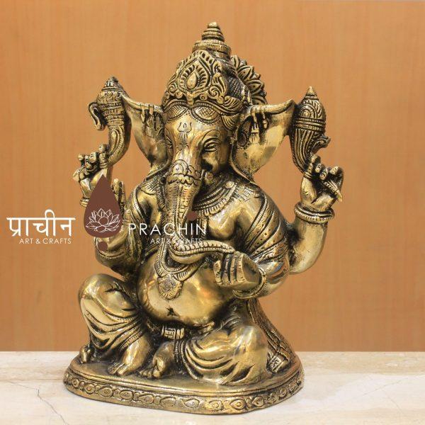 Brass Ganesha Sitting