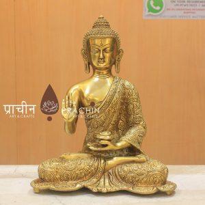 Buddha Sitting In Abhaya Mudra