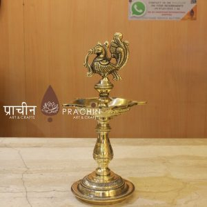 Brass Bird Lamp Table
