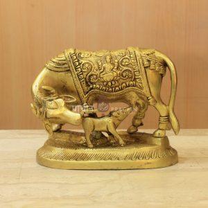 Brass Kamdhenu Cow