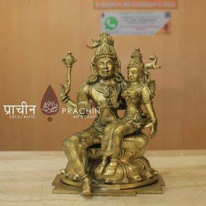 Bronze Shiva Parvati Statue